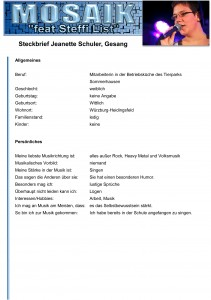 Steckbrief Jeanette